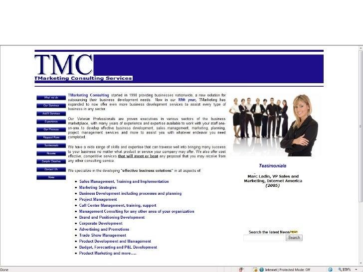 TmarketingConsulitng Services Slide 1