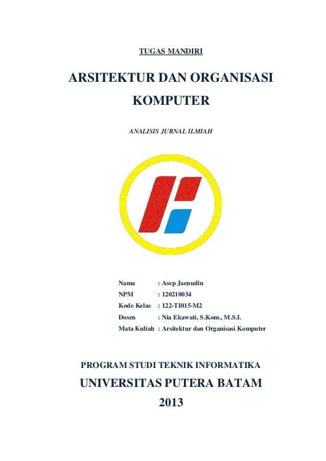 Tugas Mandiri Arsitektur Dan Organisasi Komputer
