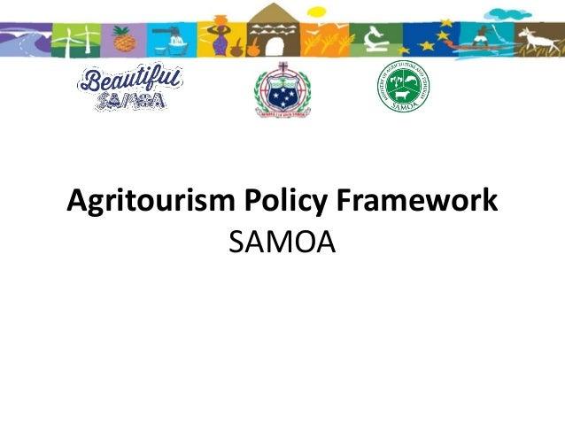 Agritourism Policy Framework SAMOA