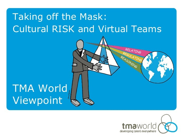 Taking off the Mask:Cultural RISK and Virtual TeamsTMA WorldViewpoint