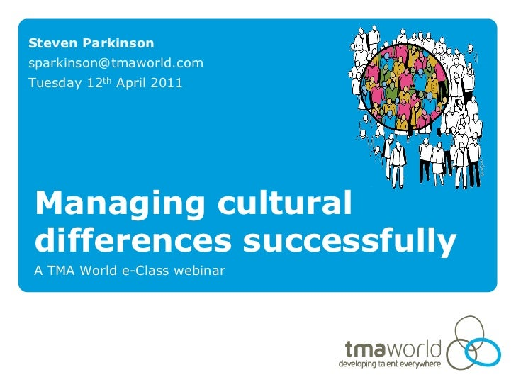 Understanding and managing cultural differences