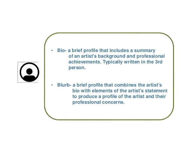 How to Write an Artist Bio or Statement