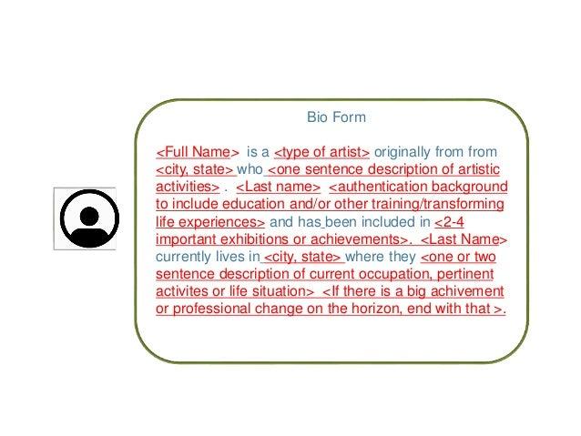 tma writing resume  bio  u0026 artist statements