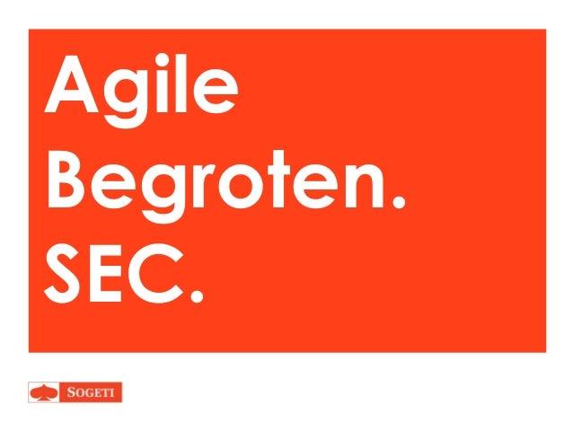 Agile Begroten. SEC.