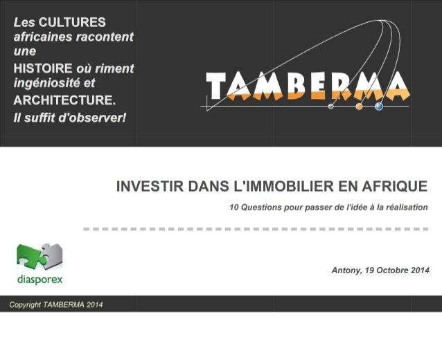 Investir dans l'immobilier en Afrique