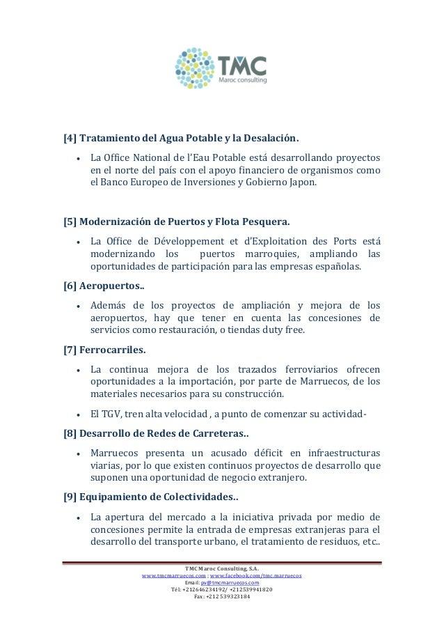 Marruecos 17 sectores estrategicos oportunidades de - Office national de l electricite et de l eau potable ...