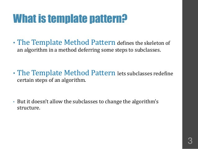 presentation on template method design pattern