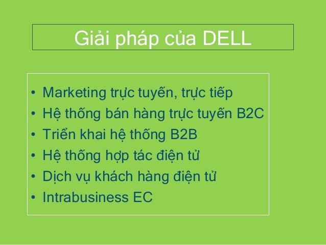 Giải pháp của DELL • Marketing trực tuyến, trực tiếp • Hệ thống bán hàng trực tuyến B2C • Triển khai hệ thống B2B • Hệ thố...