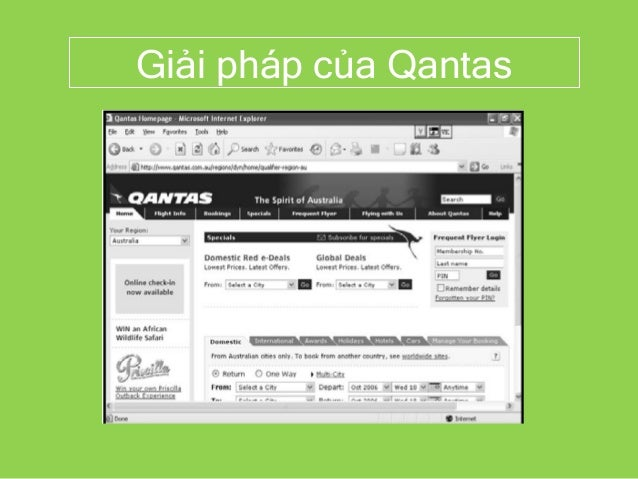 Giải pháp của Qantas