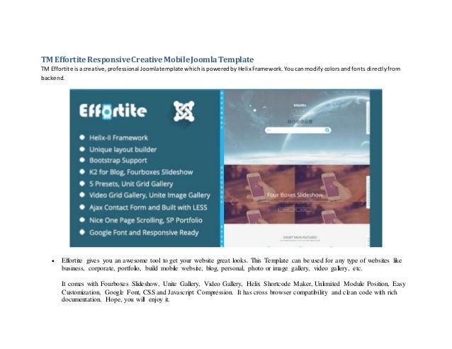 Tm effortite responsive creative mobile joomla template