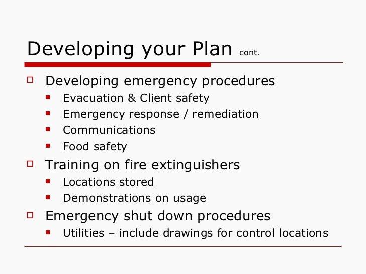 Tmf Emergency Plans Powerpoint