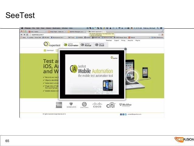 TMF2014 Mobile Testing Workshop Michael Palotas