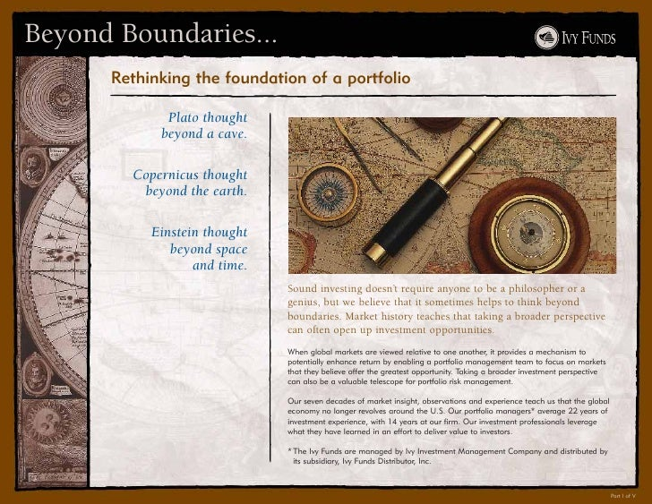 Beyond Boundaries...       Rethinking the foundation of a portfolio               Plato thought             beyond a cave....