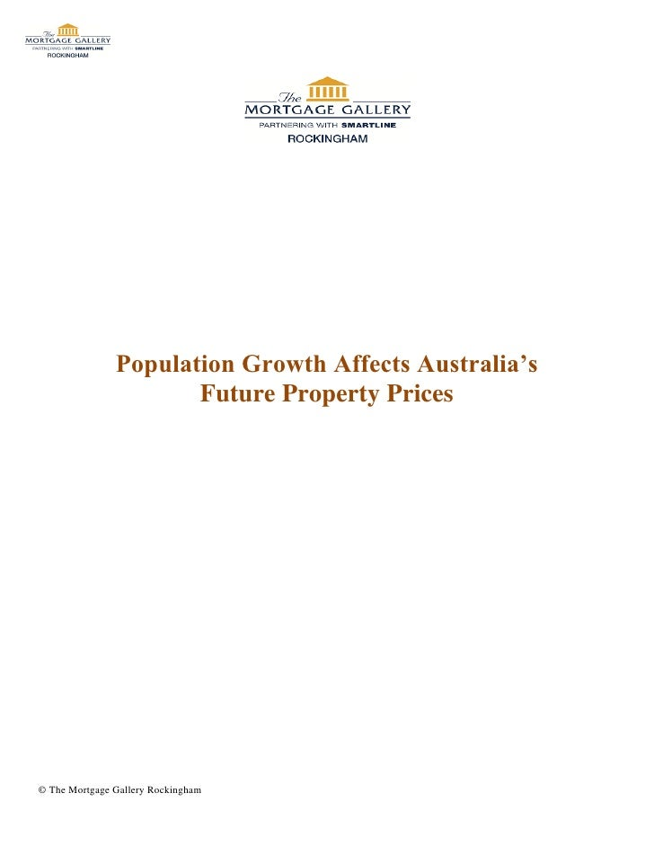 Population Growth Affects Australia's                      Future Property Prices© The Mortgage Gallery Rockingham