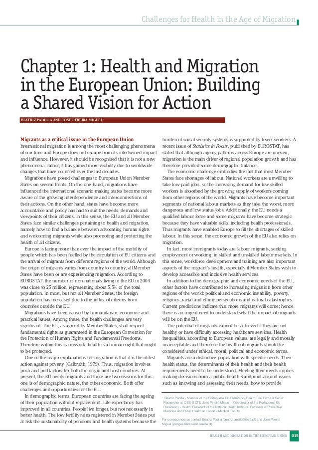 migration european union essay Free essay: eu common immigration policy the blue card policy paper european union represents economic and political partnership of 28 states, with.