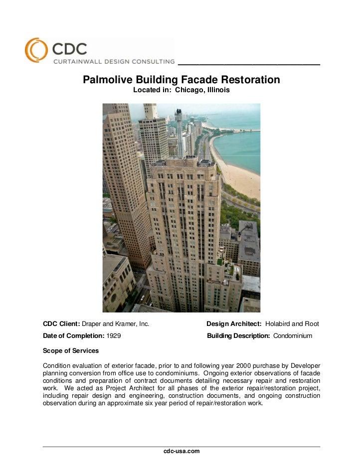 ________________________________________             Palmolive Building Facade Restoration                              Lo...