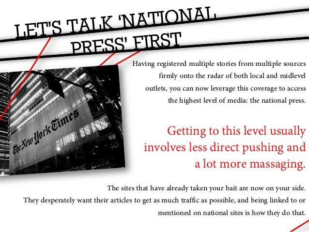 THE NATIONAL PRESS          These sites will take care of submitting your articles to            news aggregator sites lik...
