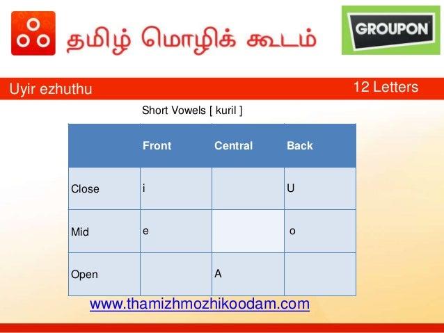 Tamil Language Training - Day 2