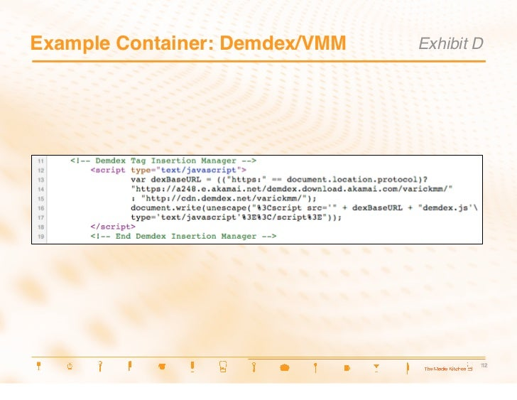 Example Container: Demdex/VMM Exhibit D