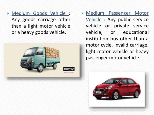 Motor Vehicle Act Definitions