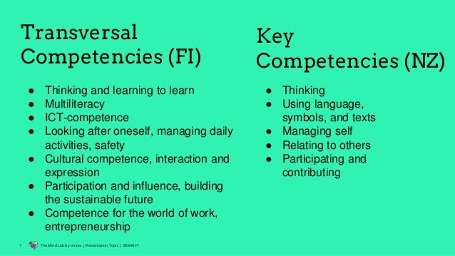 transversal competencies in the 21st century school curricula