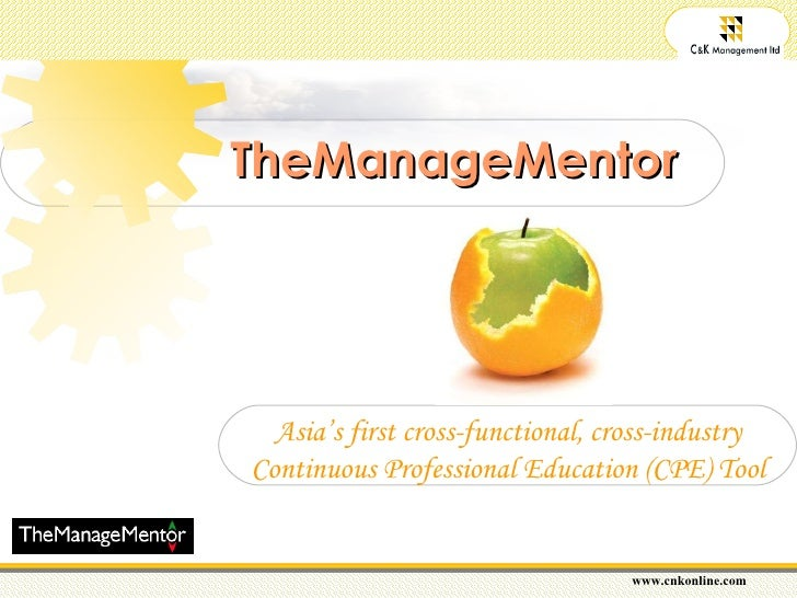 TheManageMentor Asia's first cross-functional, cross-industry Continuous Professional Education (CPE) Tool