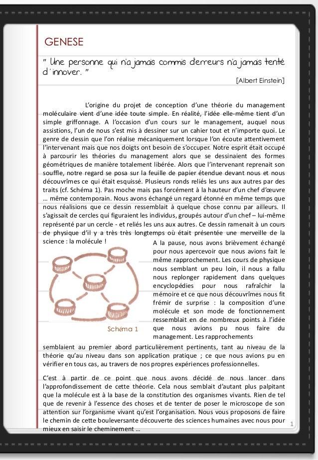 La Théorie du Management Moléculaire Slide 2