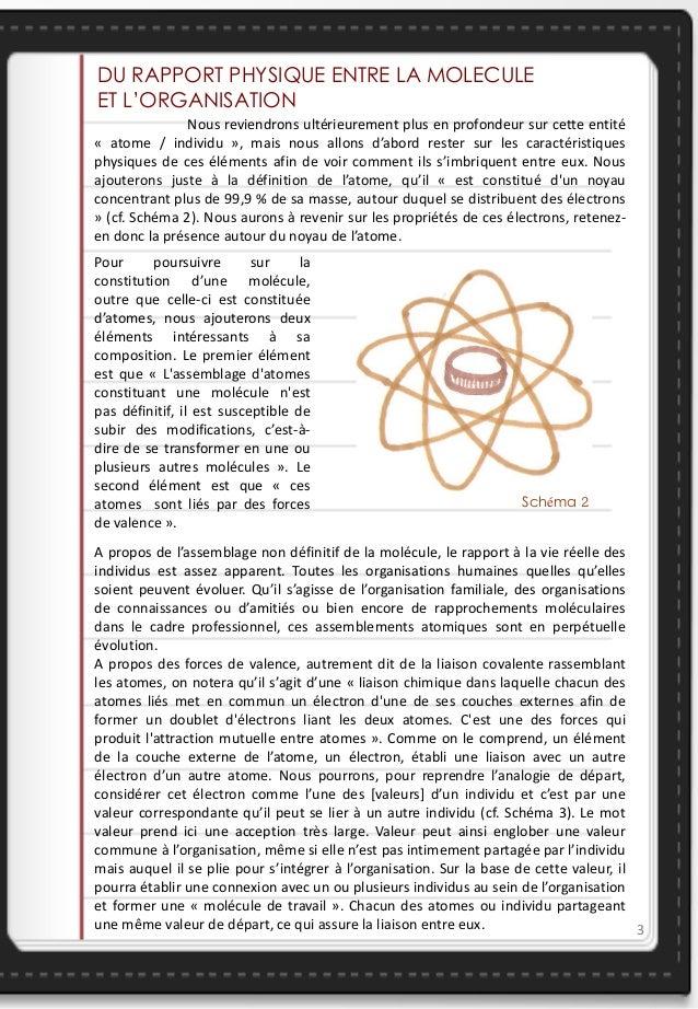 DU RAPPORT PHYSIQUE ENTRE LA MOLECULEET L'ORGANISATION                                                                    ...