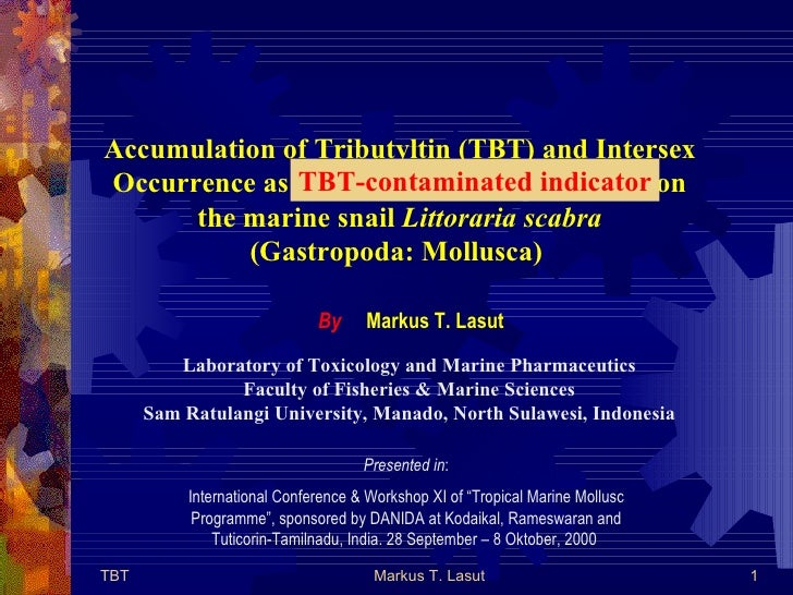 Accumulation of Tributyltin (TBT) and Intersex Occurrence as TBT-contaminated indicator on the marine snail  Littoraria sc...