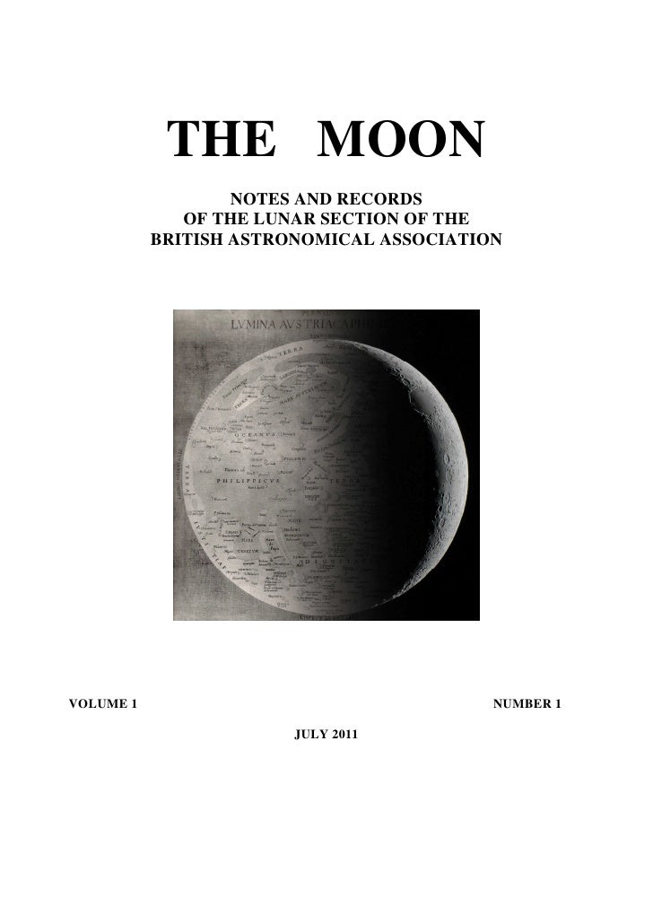 THE MOON                   NOTES AND RECORDS              OF THE LUNAR SECTION OF THE           BRITISH ASTRONOMICAL ASSOC...