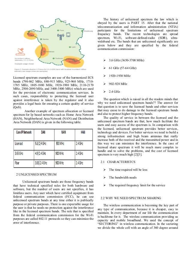 Licensed Spectrum sharing, Unlicensed Spectrum sharing and Secondary Spectrum Access Slide 2