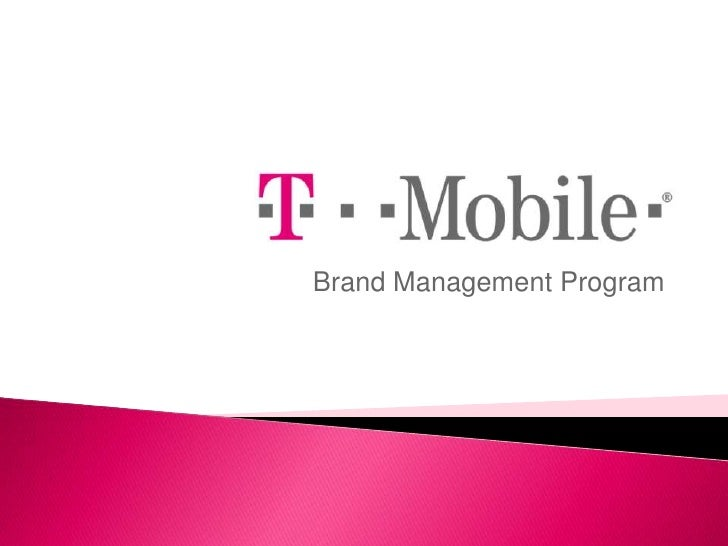 brand management example t mobile presentation With t mobile powerpoint template