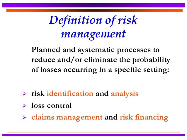 Evaluating the effectiveness of risk management