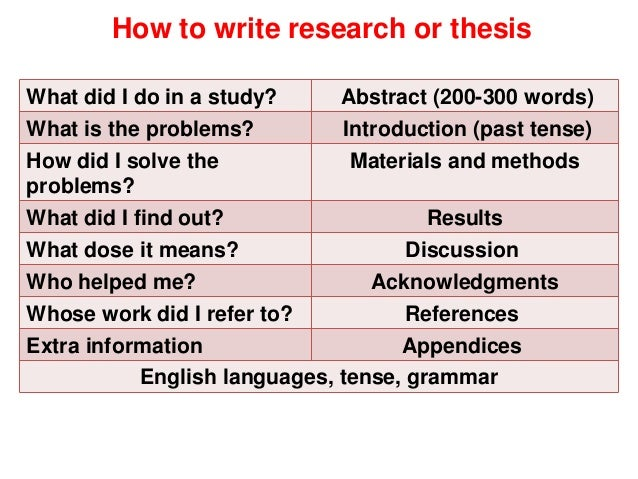 Phd thesis past tense