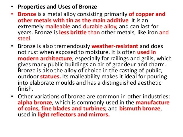 Uses For Zinc alloys and their prope...