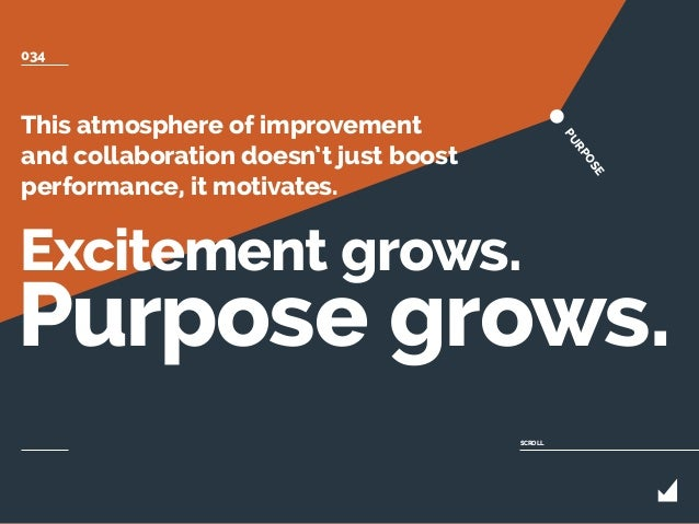 This atmosphere of improvement and collaboration doesn't just boost performance, it motivates. Excitement grows. Purpose g...