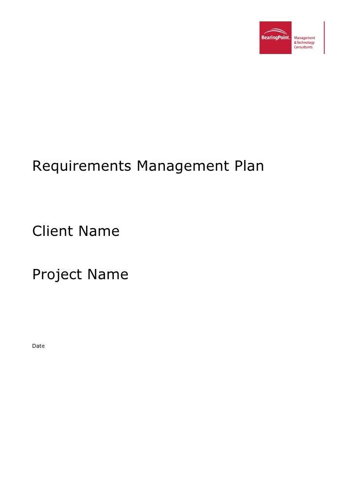 Tmp requirements management