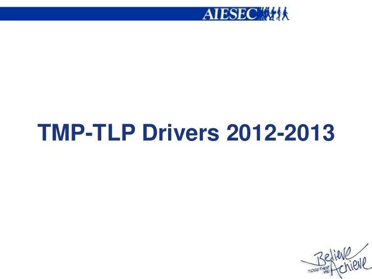 TMP-TLP Drivers 2012-2013