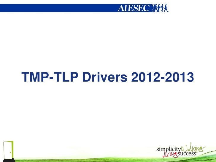TMP-TLP Drivers 2012-2013