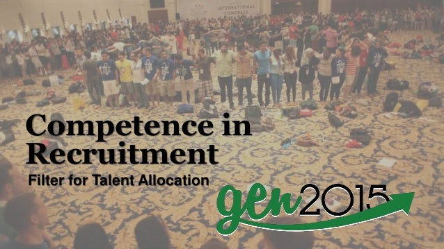 Filter for Talent Allocation Competence in Recruitment