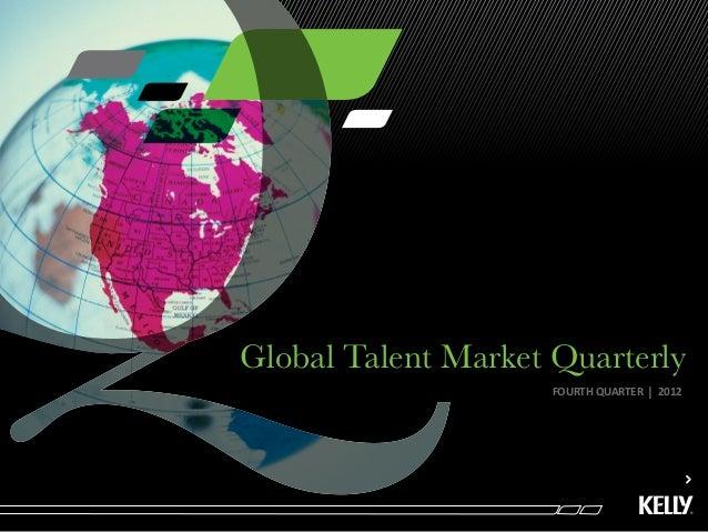 Global Talent Market Quarterly                     FOURTH QUARTER   l   2012