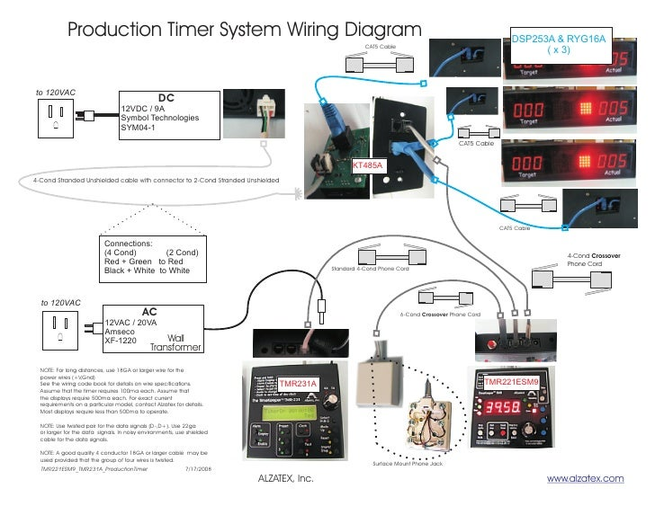 Production Timer System Wiring Diagram                                                                                    ...