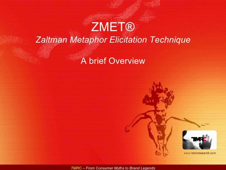 ZMET® Zaltman Metaphor Elicitation Technique A brief Overview