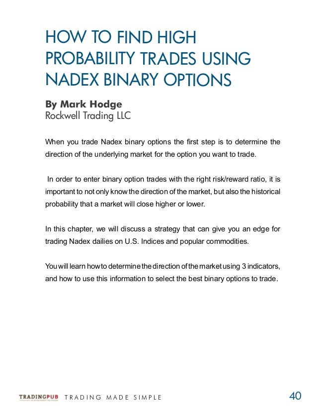 High probability trading strategies download pdf