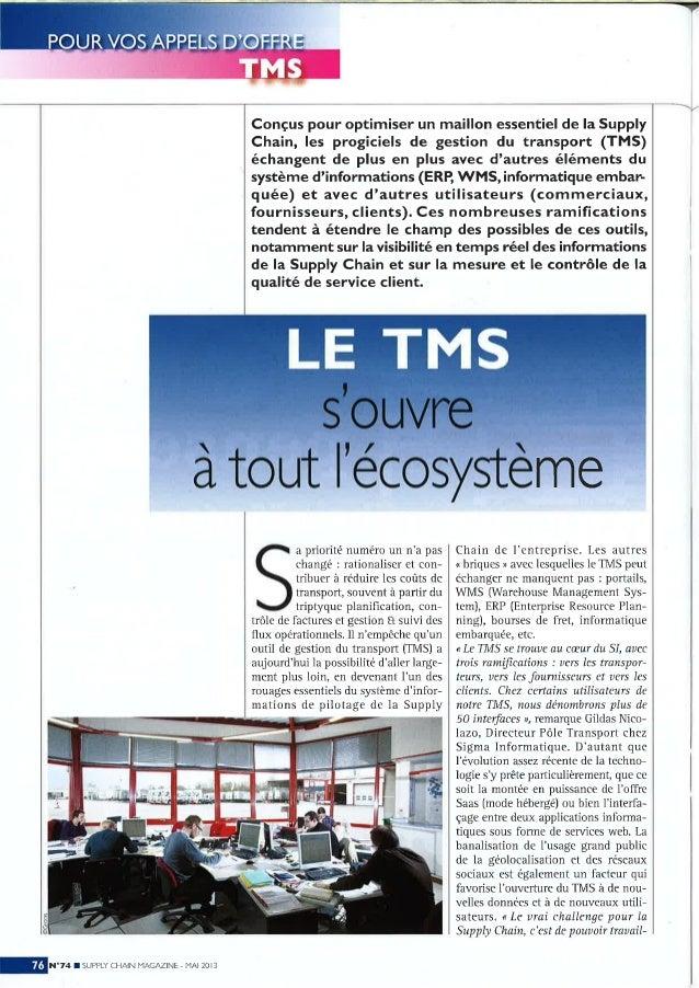 Le TMS s'ouvre à tout l'écosystème