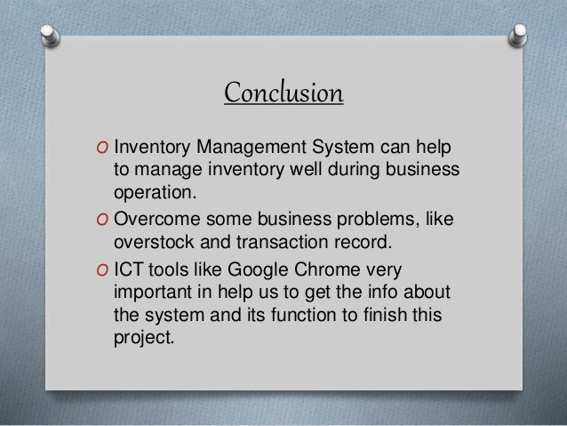 Ict Competency Inventory Management System