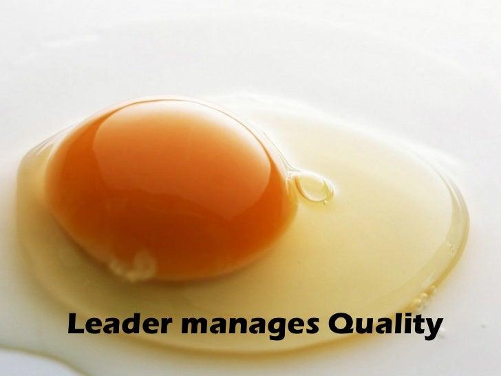 Leader manages Time
