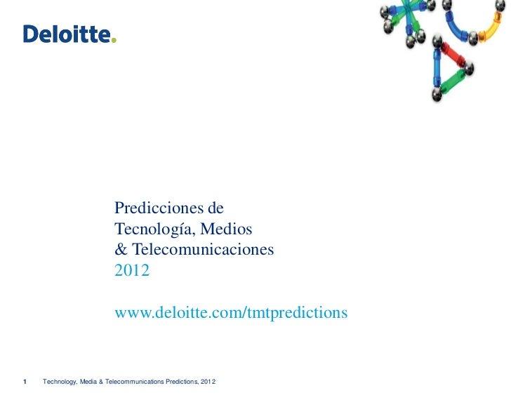 Predicciones de                           Tecnología, Medios                           & Telecomunicaciones               ...