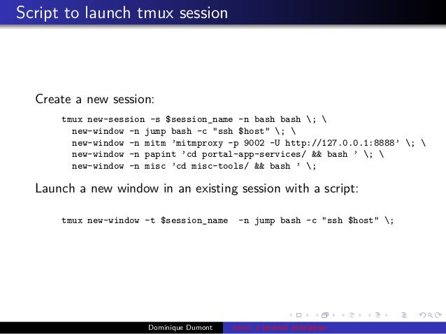 Tmux: a terminal multiplexer
