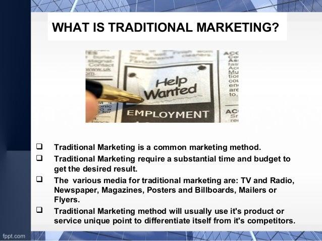 Traditional marketing vs e-marketing.. Slide 3